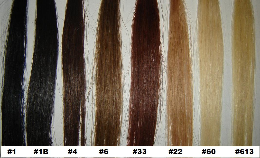 Color Chart Hair Extensions Match 66